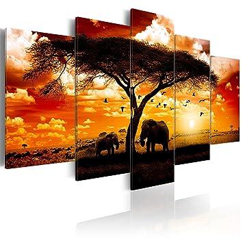 decomonkey | Bilder Afrika 200x100 cm XXL | 5 Teilig ...