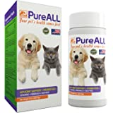 Simien Pets PureAll Probiotics Hip and Joint Support Supplement, with Digestive Enzymes, Vitamins, Antioxidants & Minerals, 9 oz. for Dogs and Cats, 100 servings
