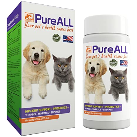 Amazon.com : All-In-One Dog & Cat Probiotics, Hip Joint Pain Relief on