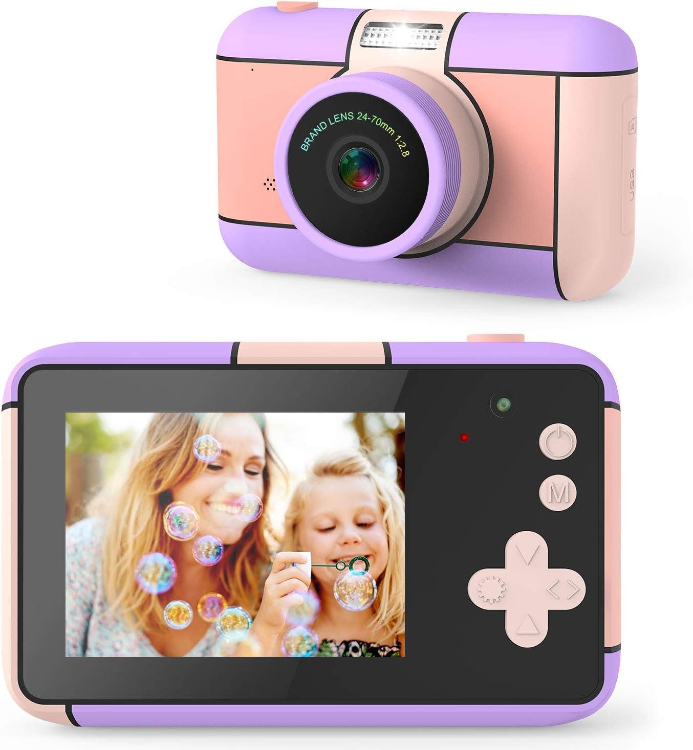 joylink Cámara para Niños, Cámara de Fotos para Niños Cámara Selfie de 12 MP Cámara Digitale para Niños con Video 1080P HD y Tarjeta de Memoria de 32GB
