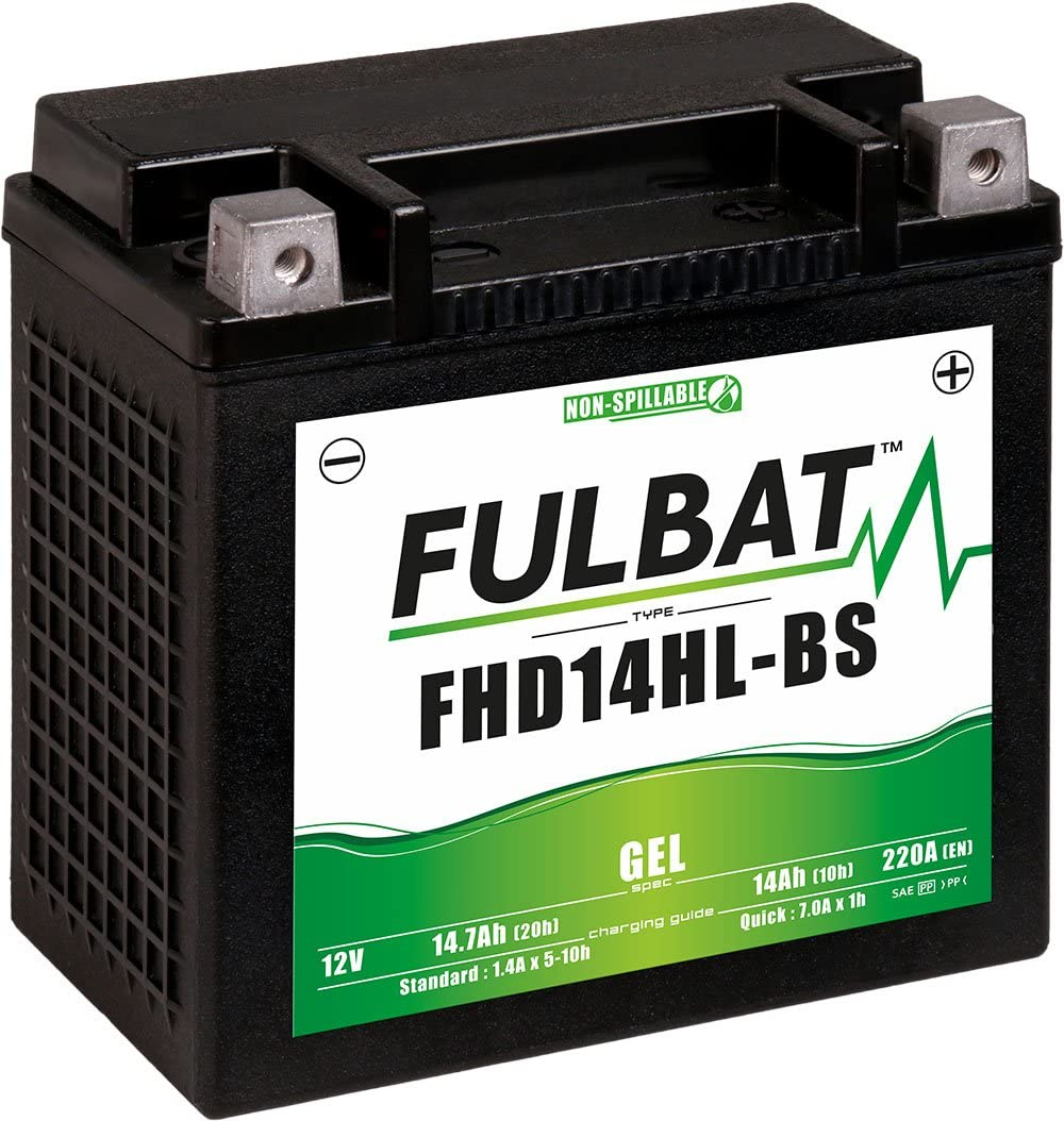 Fulbat Motorrad Batterie Gel Fhd14hl Bs Etx14l 12v 14ah Auto