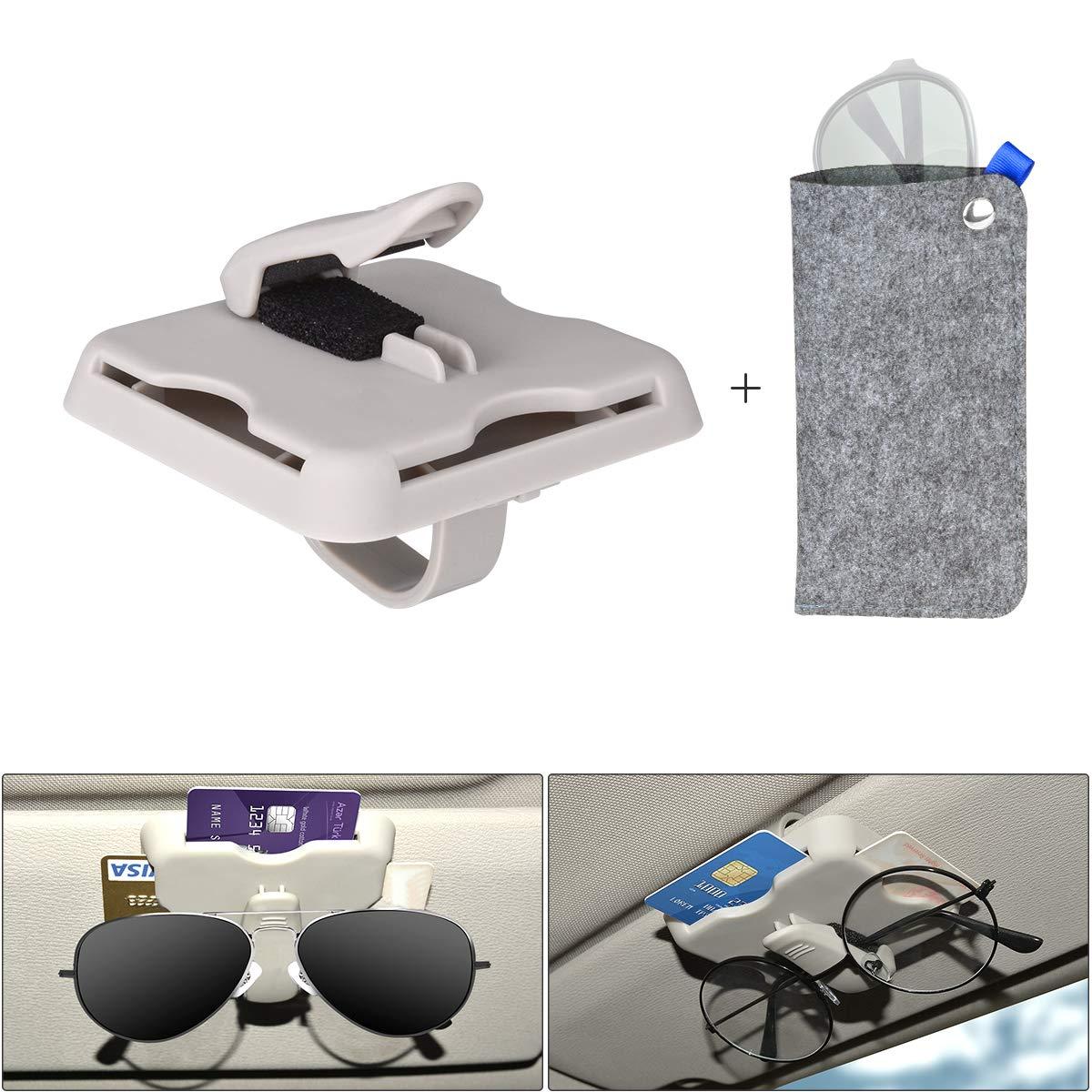 Extremade Brillenhalter Auto,brillenhalterung Auto,Brillenbox, magnetischer Brillenhalter,brillenablage fü rs Auto, Brillen ablage:Brillen Halter Auto fü r Karte Ausweis Mü nze XCG-1813DE-T1