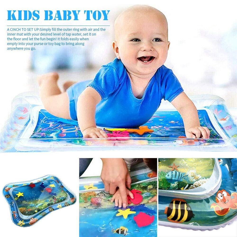 Arlando Wassermatte Baby aufblasbar Wasser Spielmatte 66X50cm BPA-frei Wasserkissen Wasserf/üllung Wasserpark f/ür Baby Kleinkinder S/äuglinge Neugeborene 3 6 9 Monate