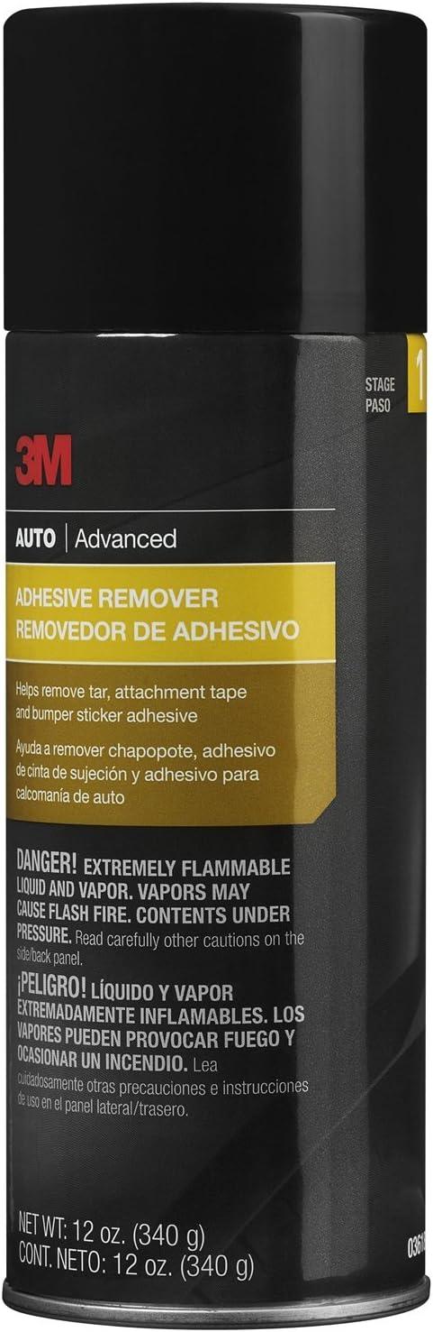 3M Adhesive Remover, Helps Remove Tar, Attachment Tape & Bumper Sticker Adhesive, 12 oz., 1 aerosol