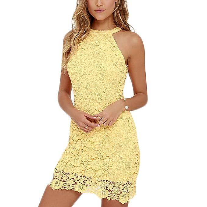 Vestidos de fiesta color amarillo cortos