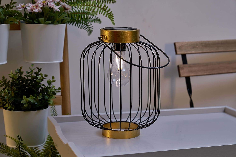 Pauleen 48062 Sunshine Melody Solar-Laterne Schwarz für außen-Balkon oder Garten, Metall, 0.006 W Sunshine Wonder