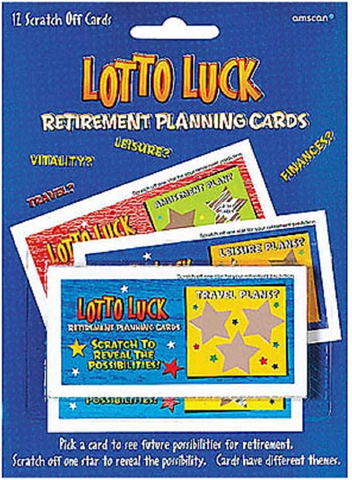 12 ct Retirement Planning Scratch off Lotto Luck Cards Fun Novelty Gift Goofy Gadgets