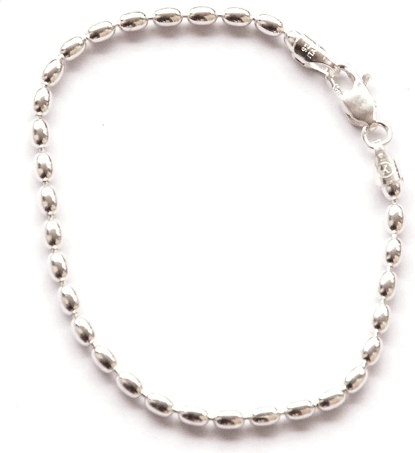 Bracelet 2.5mm Link 925 Sterling Silver 6 to 13 Inches JOSCO Mother of Pearl Anklet