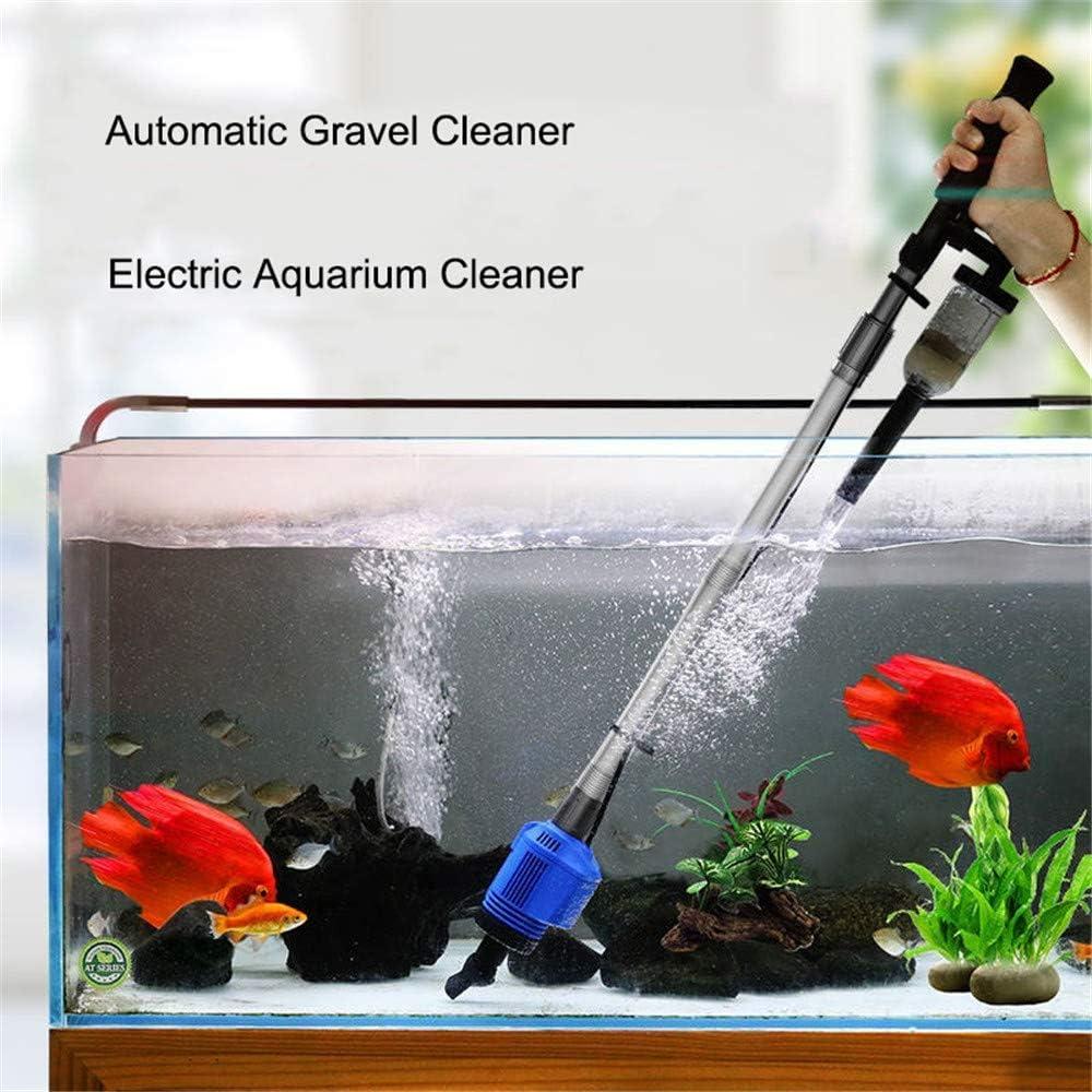 CHENGL Acuario eléctrico Limpiador de Grava de Arena, Vacuum-Cambiador de Agua eléctrico automático de Acuario Flexible Sand Algas Cambio de Filtro de Aspirador, sifón-Limpieza Peces de Acuario sifón: Amazon.es: Hogar