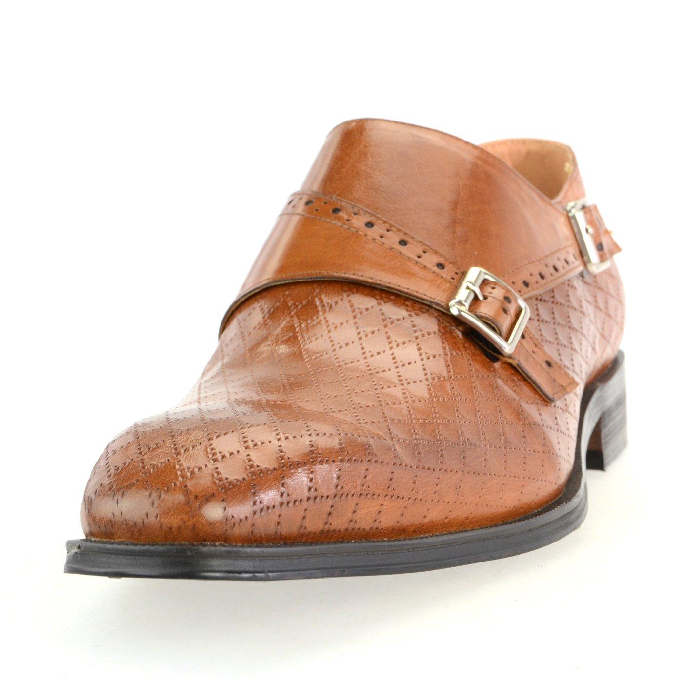 [ルシウス] LUCIUS 本革 20種類から選ぶ レザー メンズ ダブル モンクストラップ メダリオン ストレートチップ 革靴 紳士靴 B076DNSRL2 26.5 cm 3E HA17480-4 ブラウン HA17480-4 ブラウン 26.5 cm 3E