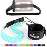Unigear Premium 10' Coiled SUP Leash (11 Colors) Inflatable Paddle Board Leash with Waterproof Wallet