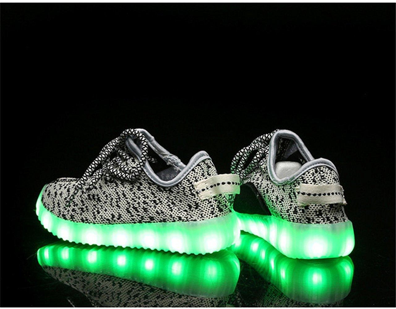 df90ff0ebd8 Zapatos ligeros Zapatos ligeros del LED Zapatos recargables del tablero del  usb Zapatos luminosos fluorescentes Gris