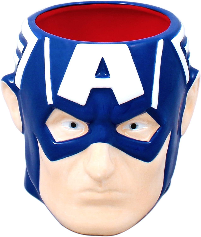 Silver Buffalo MC7295 Marvel Captain America 3D Ceramic Mug, 20-Ounces