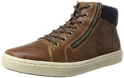 Rieker Herren 30914 Hohe Sneaker, Braun (Marron/Navy), 42 EU