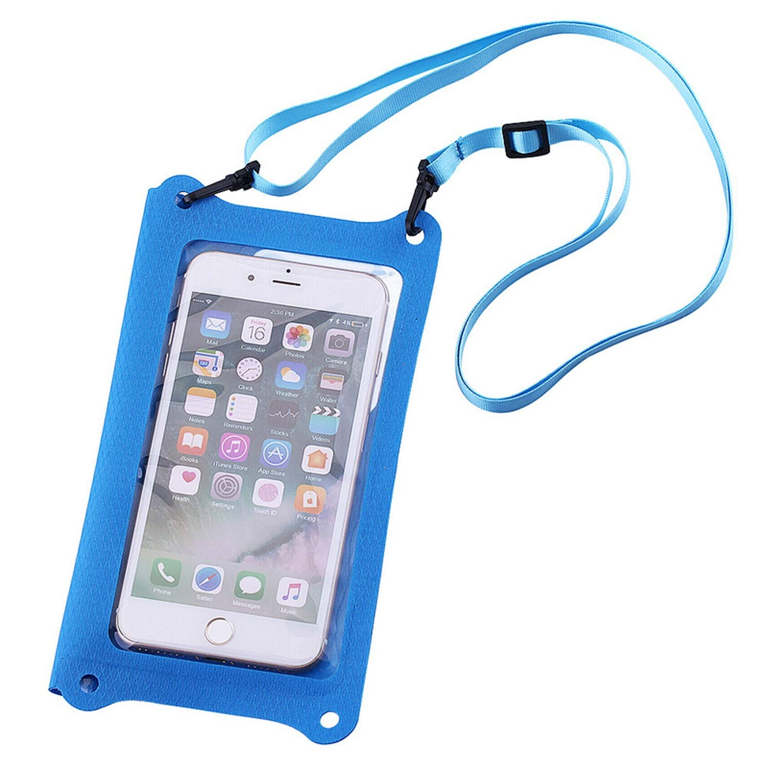 Waterproof Touch Screen Mobile Phone Bag Outdoor Swimming Pouch Cell Phones Portable Double-Velcro Swimming Diving Bag,Blue by I'll NEVER BE HER