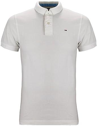 fcebe1d33 Tommy Hilfiger Denim Pilot Basic Polo Classic White (X-Large): Amazon.co.uk:  Clothing