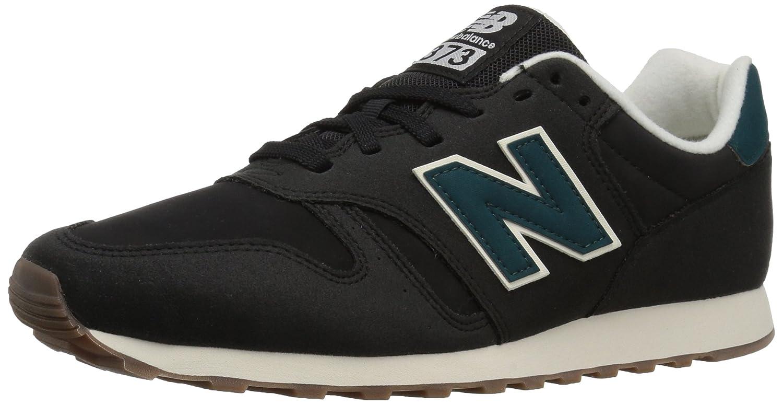 New Balance Men's 373V1 Sneaker B01N2S8ZH6 8 2E US|Black/Petrol