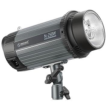 Neewer Flash Luz Estroboscópica Monolight 250W 5600K con Lámpara Modelado,Speedlite Profesional Aleación de Aluminio para Fotografía Estudio de Ubicación ...