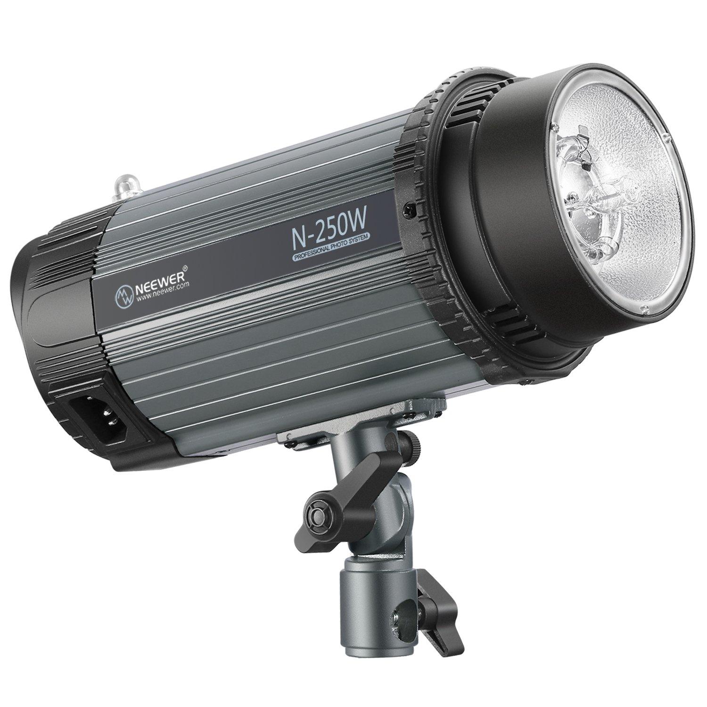 Neewer 250W 5600K Photo Studio Strobe Flash Light Monolight with Modeling Lamp, Aluminium Alloy Professional Speedlite for Indoor Studio Location Model Photography and Portrait Photography (N-250W)