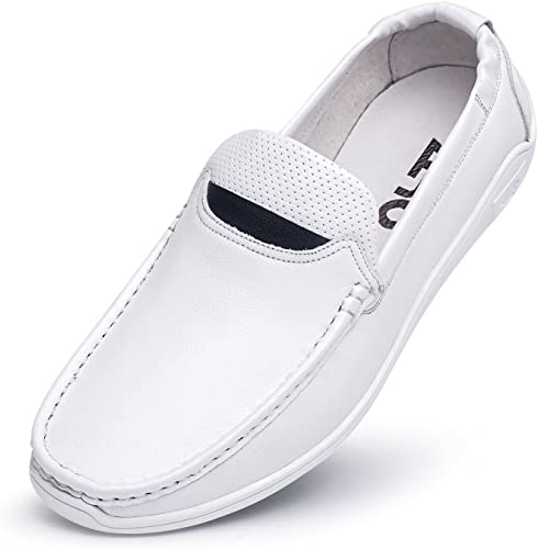 ZRO Mens Casual Leather Slip On Driving Shoes Loafer Soft