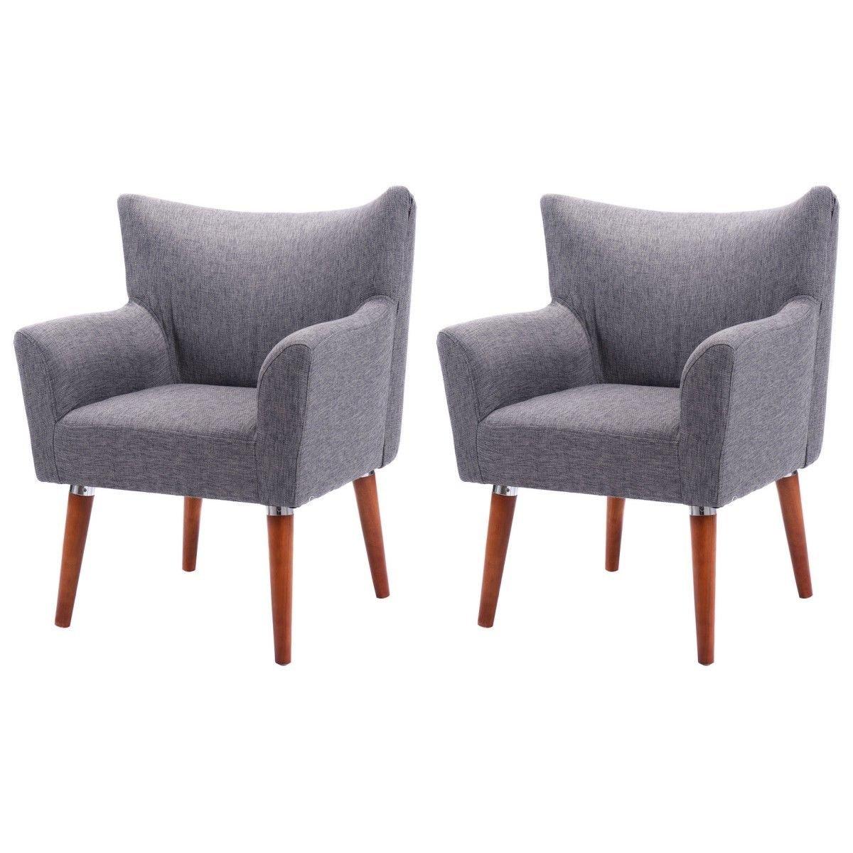 Amazon.com: Giantex Set Of 2 Leisure Arm Chair Single Couch Seat Home  Garden Living Room Furni Sofa (2Grey): Kitchen U0026 Dining
