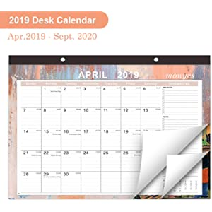 Calendar Sept 2020.Amazon Com Desk Calendar 2019 Large Monthly Wall Calendar With