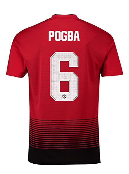 00b1350c0ff Manchester United FC Official Football Gift Mens Pogba 6 Home Kit Shirt  Medium  Amazon.co.uk  Clothing
