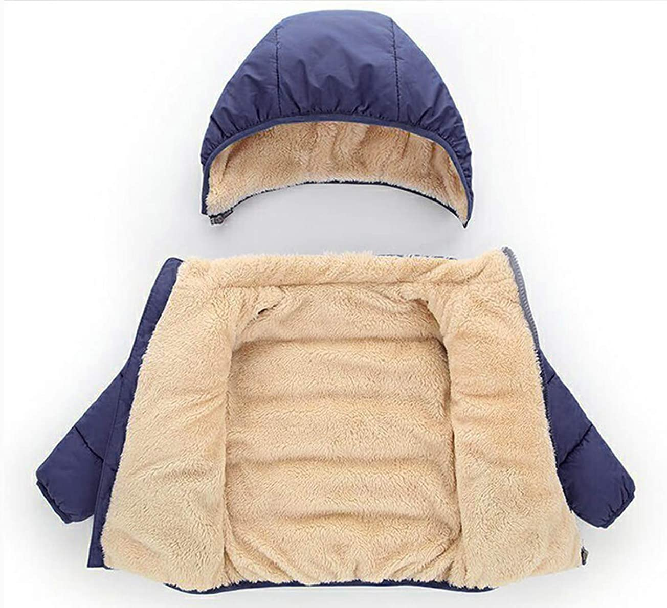 Happy Cherry Toddler Down Jacket Removable Hooded Windproof Snow Winter Coat Outwear