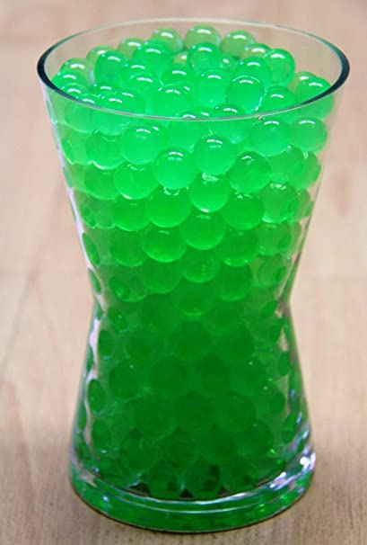 Amazon 1 Pound Bag Of Green Water Beads Pearls Centerpiece