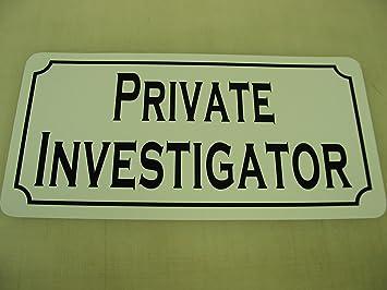 Amazon.com: Investigador privado estilo clásico metal Sign ...
