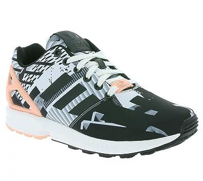 huge discount c65e3 183ef Adidas Originals ZX Flux Women s Sneaker Black B34496, ...