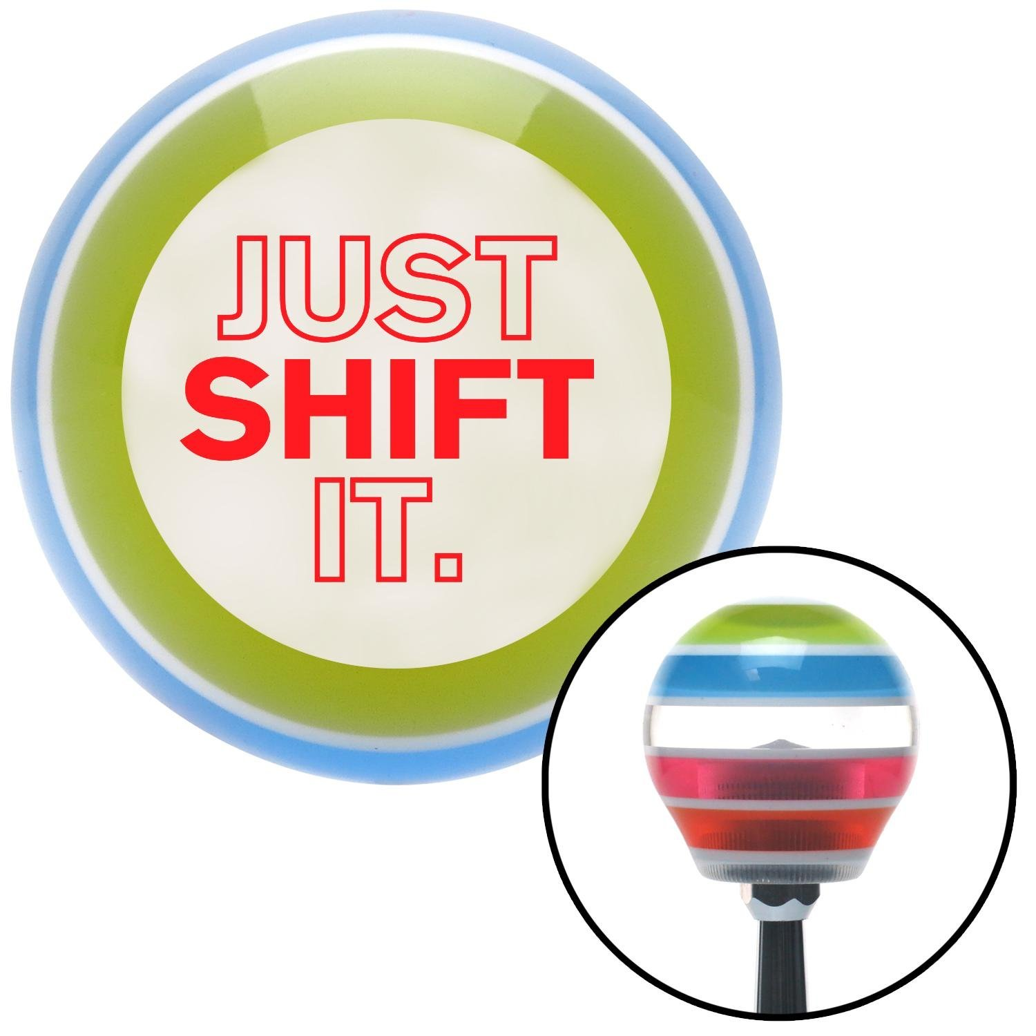 Red Just Shift It. American Shifter 137836 Stripe Shift Knob with M16 x 1.5 Insert