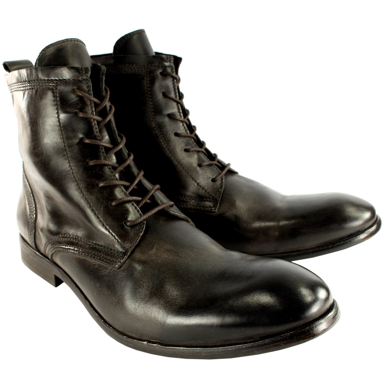 7bef45179563 Hudson Mens H Swathmore Leather Lace Up Smart Ankle Boots New Uk Sizes  7-13  Amazon.co.uk  Shoes   Bags