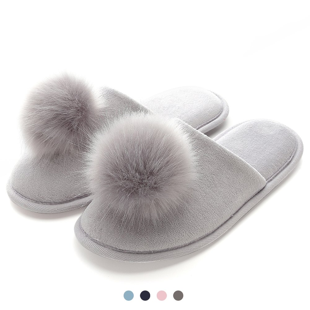 Home Slippers for Women with Cushioned Supportive Memory Foam Insole Comfortable Cozy Anti-Split Shoes Birthday Gift for Wife Mother Daughter