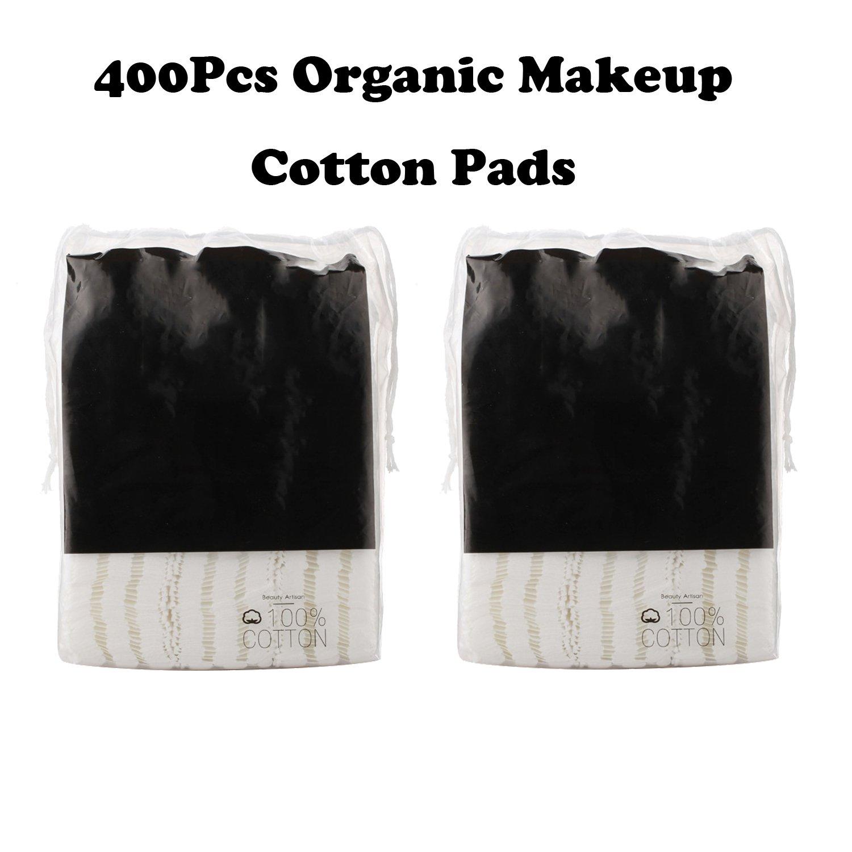 400Pcs Organic Makeup Cotton Pads Facial Soft Cut Cleansing Wash Cotton Pads