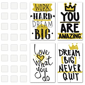 Amazoncom Set Of 4 Inspirational Wall Art Motivational Posters