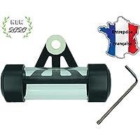 Support de vignette Moto Cylindrique ALU 50X30 mm Titane