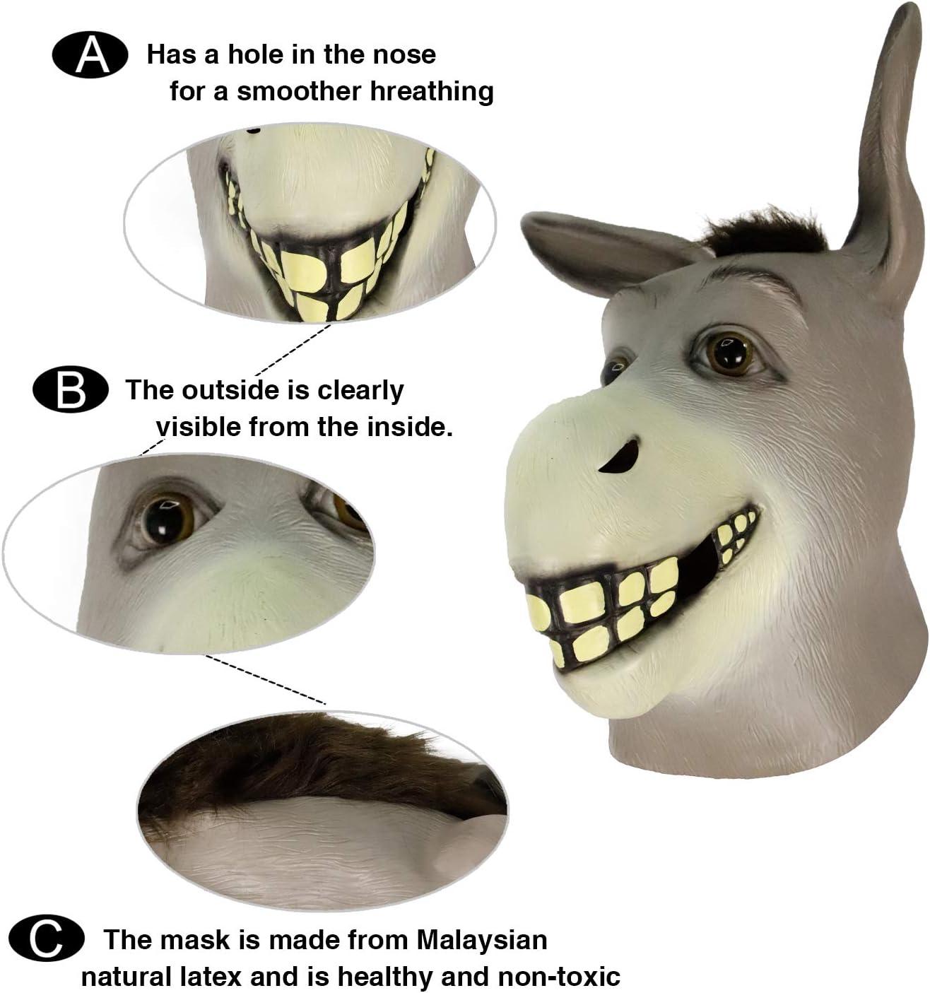 La gente buena comedia gracioso Media Cara Máscara de utilería para Fiesta Disfraces Látex Stag