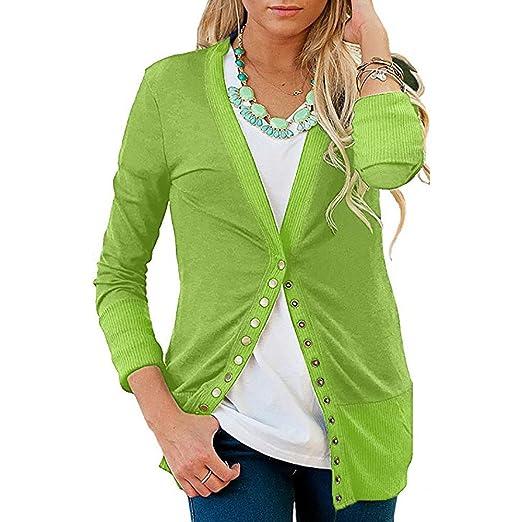 d2978a26 BeautyVan—Winter Clearance Sale ! Women Coat Women's Button Down Knitwear Long  Sleeve Knit Sweater