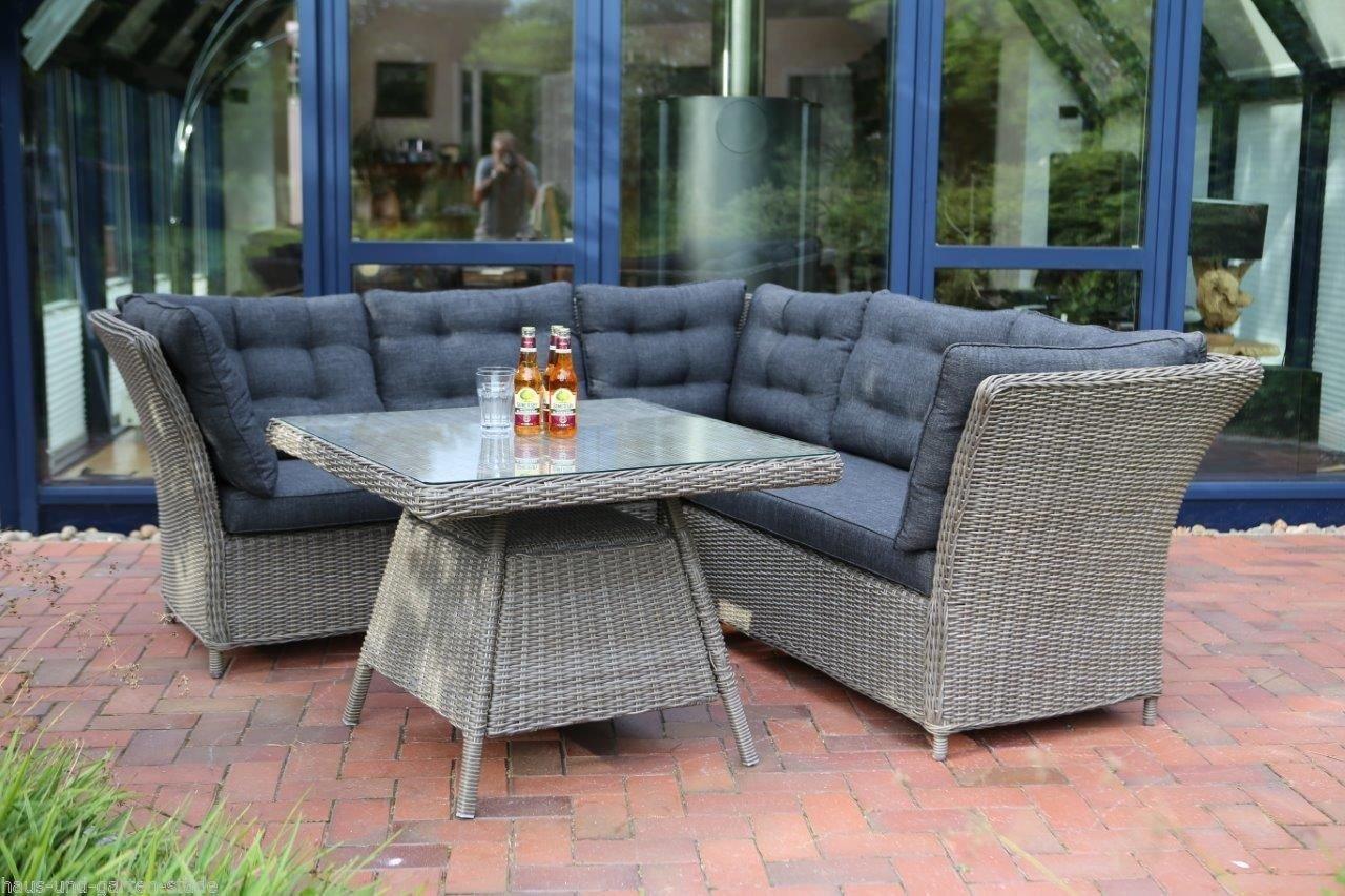 Destiny loungegruppe palma tri vintage grau lounge for Polyrattan lounge set grau
