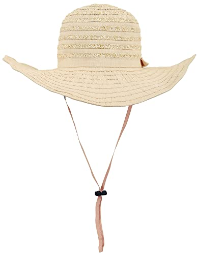 AshopZ Women's Summer Floppy Beach Sun Hat with Removable Strap