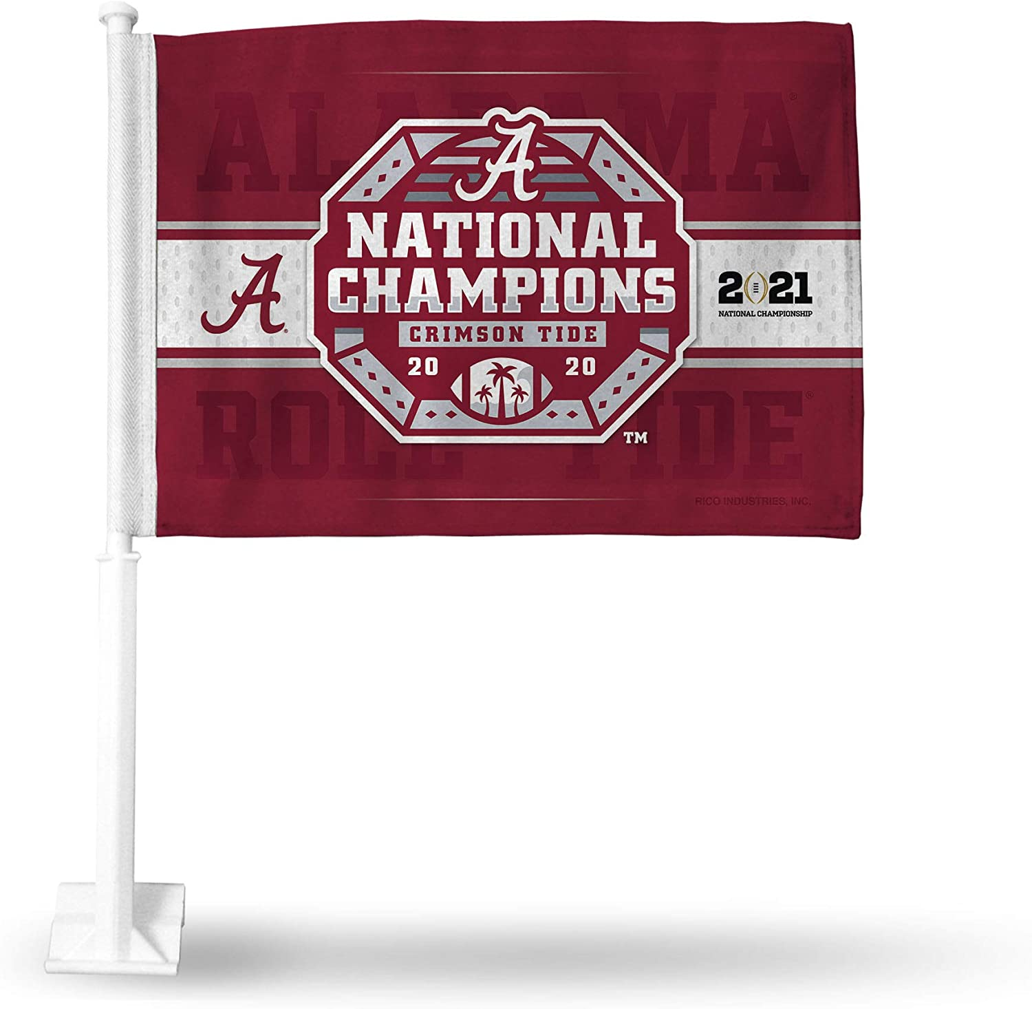 Rico Industries NCAA Alabama Crimson Tide 2020 National Champions 3-Foot by 5-Foot Single Sided Banner Flag with Grommets
