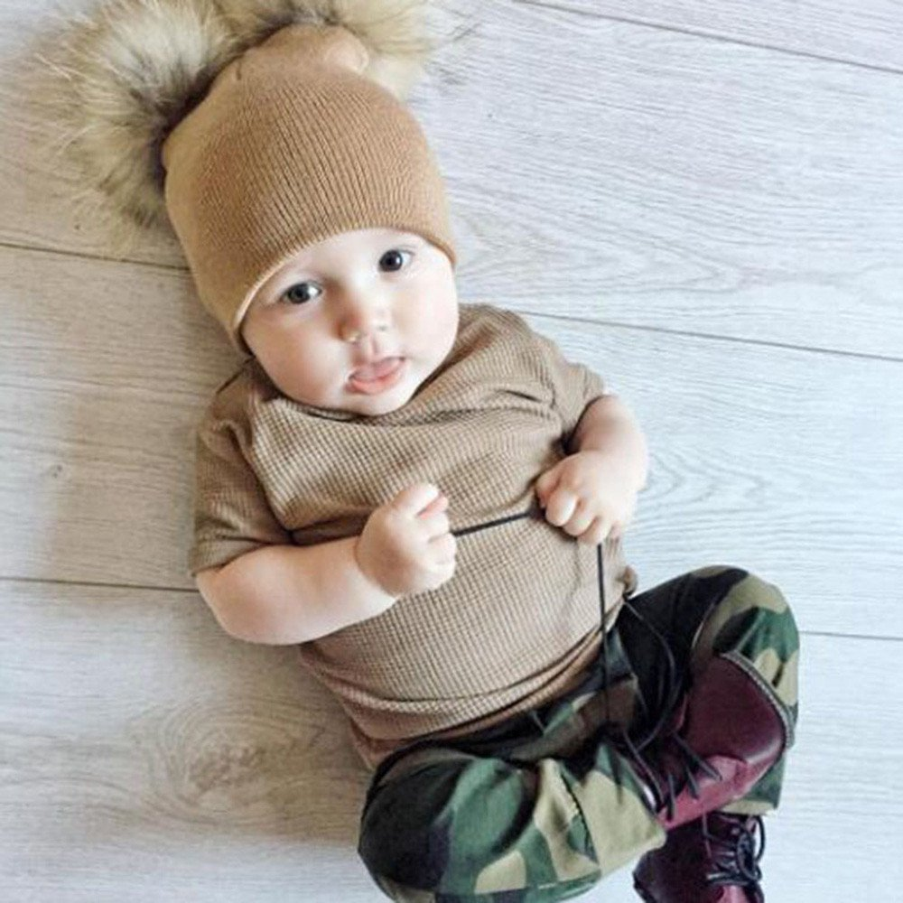 9484a9fe303 Amazon.com  Gbell Baby Girls Boys Crochet Knit Hats