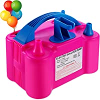 PCFING Electric Air Balloon Pump and Balloon Tying Tool in One, Portable Dual Nozzle Electric Balloon Blower Air Pump…