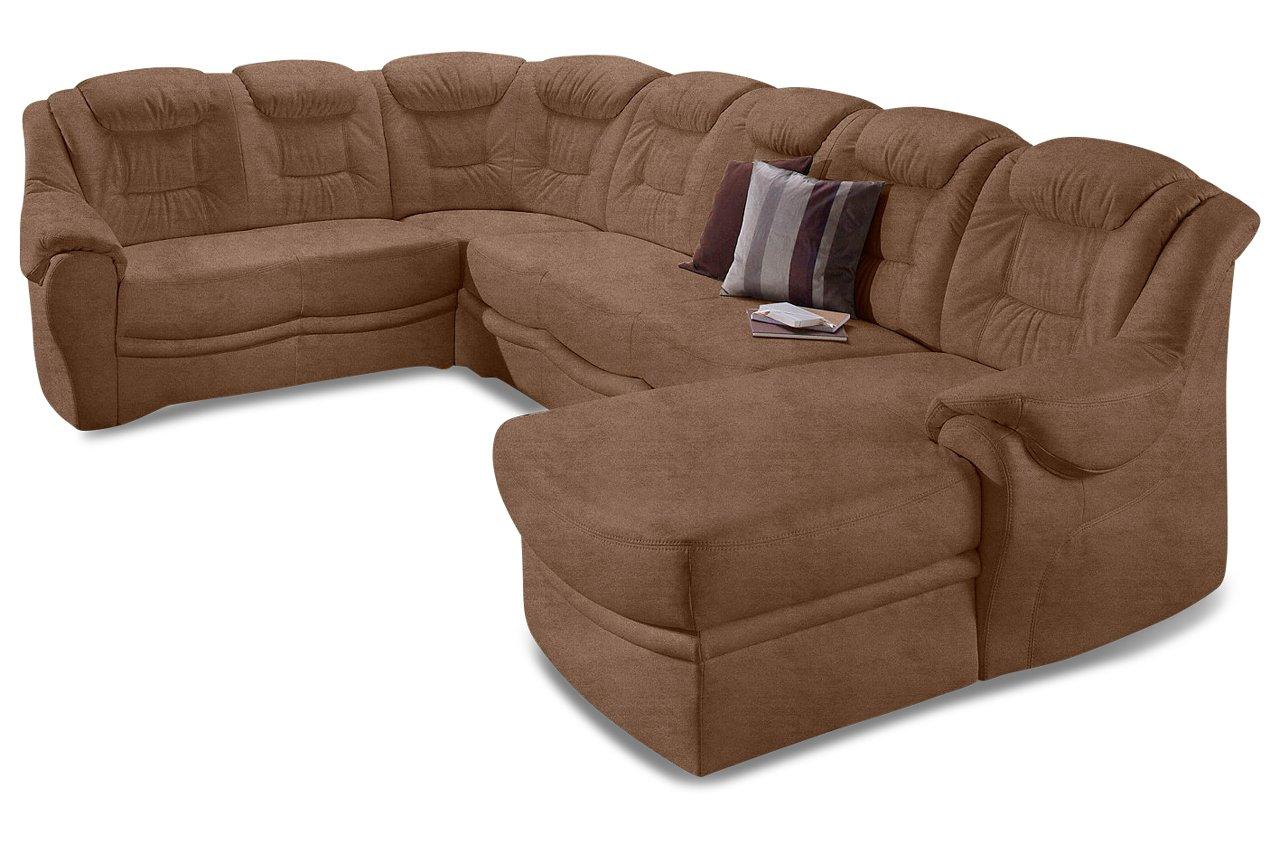 Sofa Sit More Wohnlandschaft Xl Bellevue Microfaser Braun Online