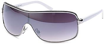 Designer Sonnenbrille mit Monoscheibe und Verlaufsglas Damen Herren unisex Sonnenbrillen (weiss) 0cjci0YE2i