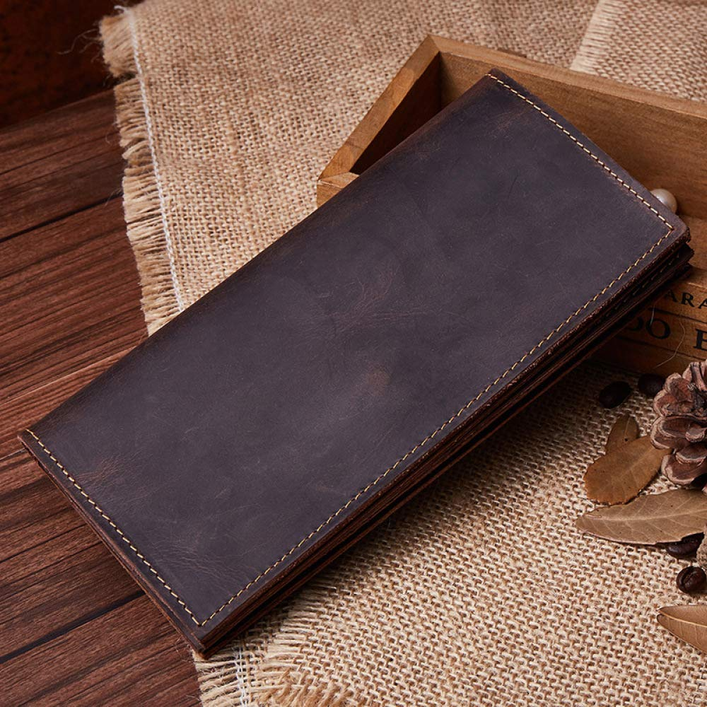 Myzixuan Mens Long Hundred Wallets Casual Wallets Leather Wallets Mens Wallets 918.51.5cm