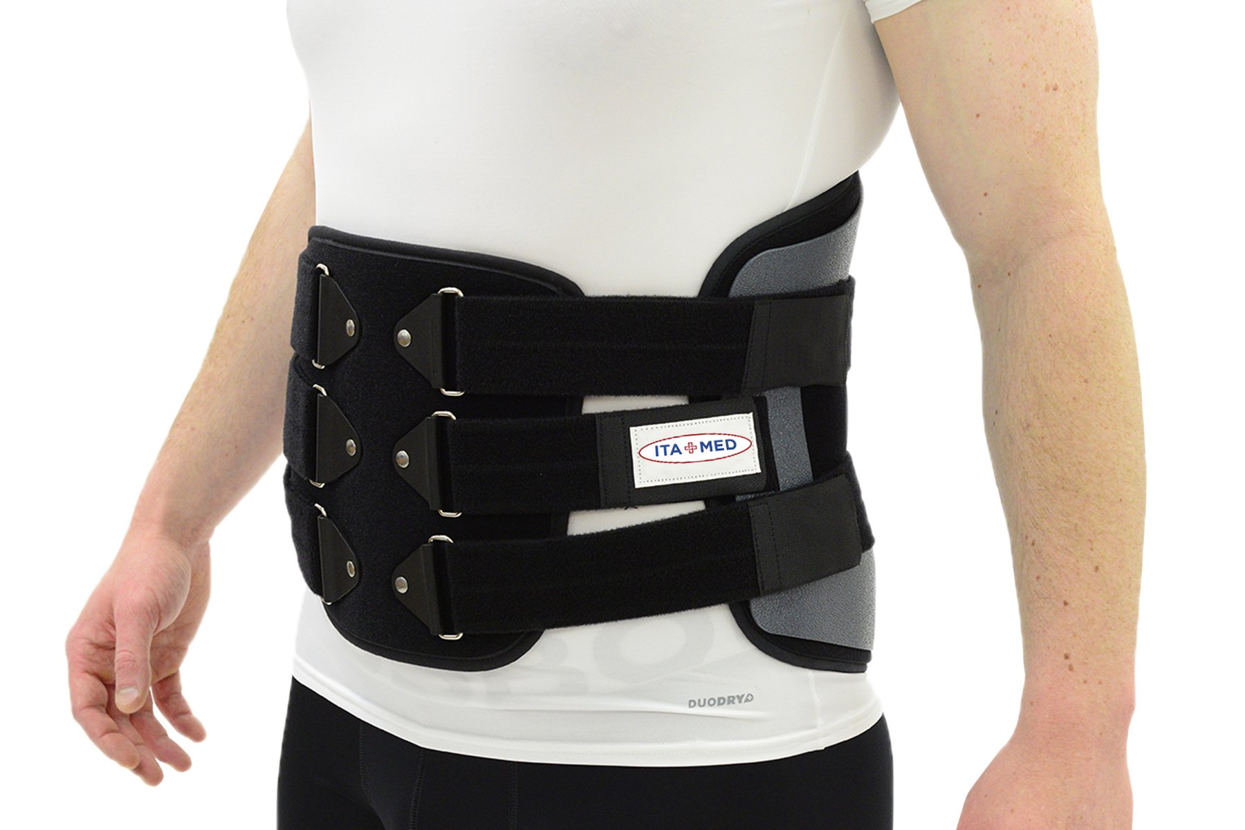 ITA-MED Back Support Lumbosacral Orthosis (Chair Back) Post-Op Belt, XL