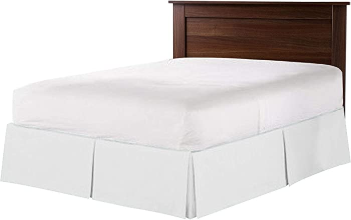 "18"" Inch Drop Queen 600 TC Egyptian Cotton Bedding 1X Bed Skirt (60X80) White Solid"