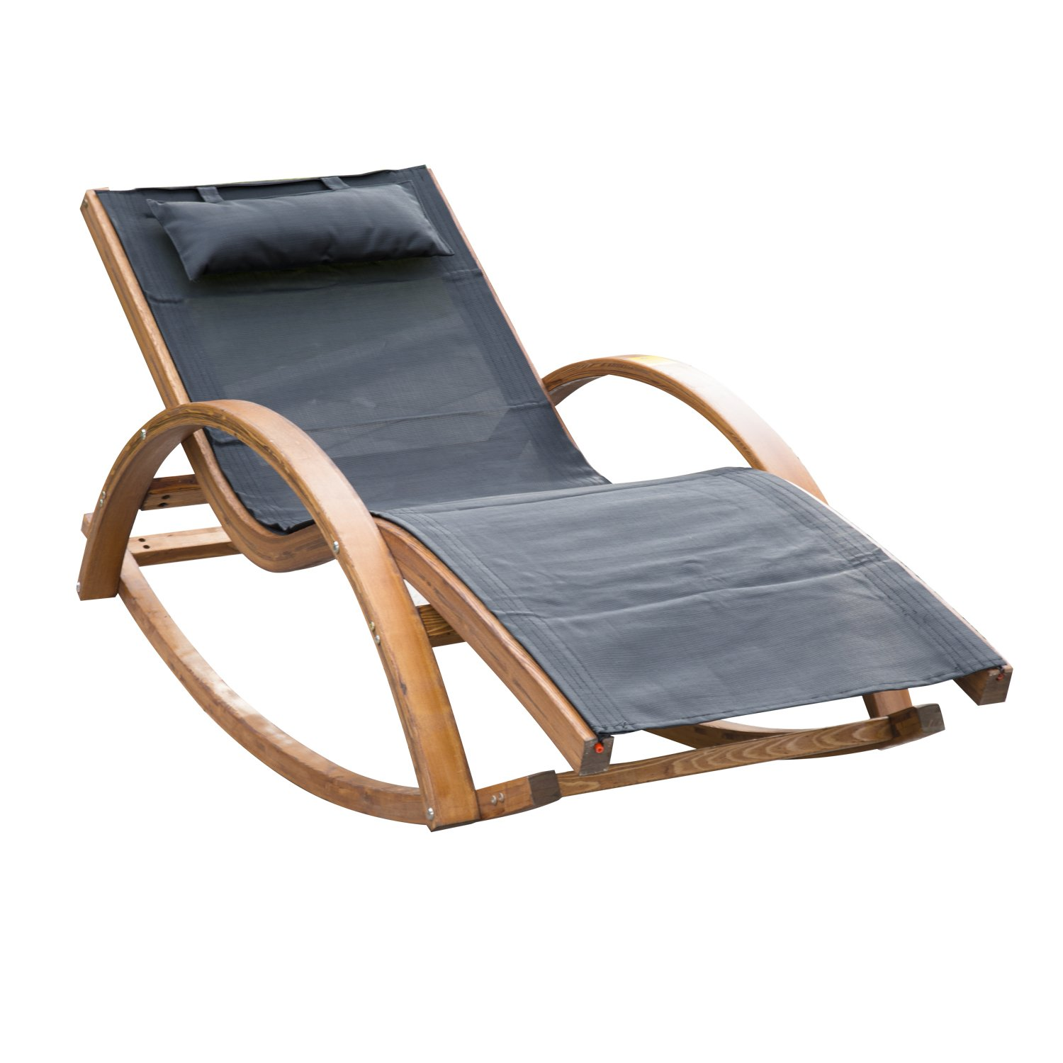 Outsunny Outdoor Garden Patio Pool Rocking Chair Sun Lounger Bed